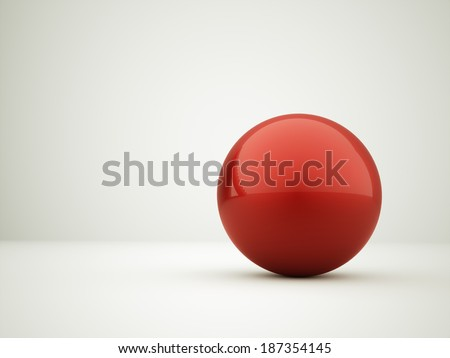 Red abstract sphere concept background rendered - stock photo