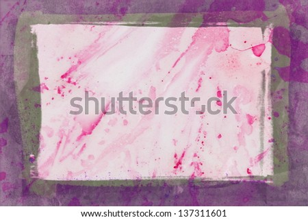 red abstract watercolor - stock photo