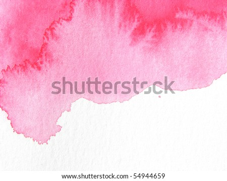 red abstract watercolor background design - stock photo