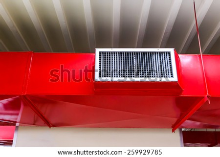 Red air vent  - stock photo