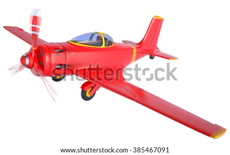 red airplane isolated on white background