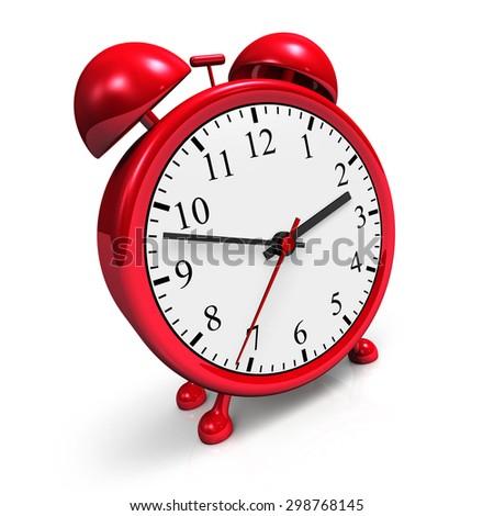 red alarm clock 2 - stock photo