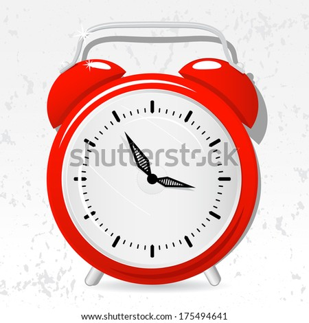 Red alarm clock cartoon - Also Available in Vector Version