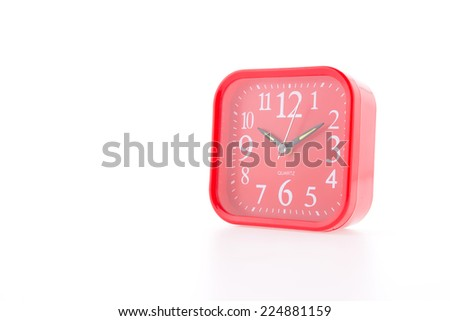 Red alarm isolated on white background