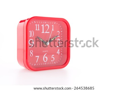 Red alarm isolated on white background - stock photo