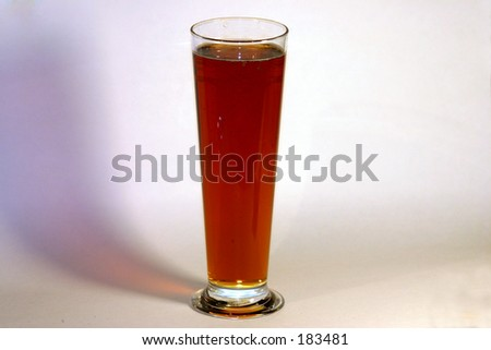 Red Ale beer in a tall schooner glass - stock photo