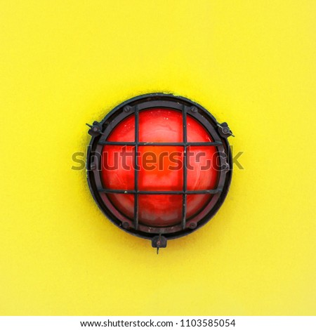 Red Alert Bulkhead Light Fixed Painted Stock Photo (Royalty Free ...