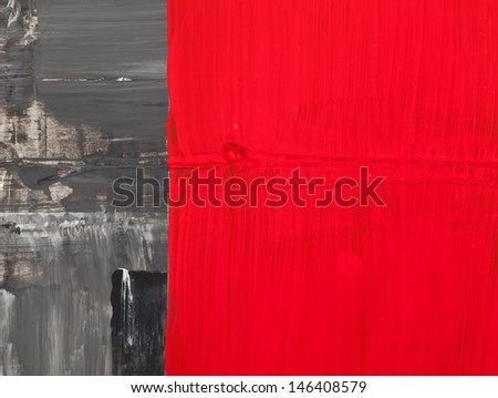 Red and black abstract painting backdrop