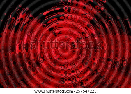 Red and black ripple pattern. Abstract background. - stock photo