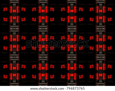 Red and Black symmetrical abstract background