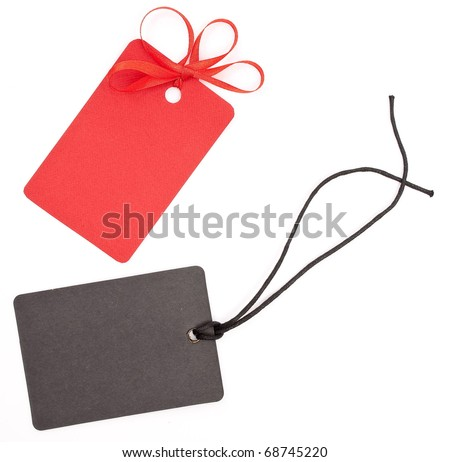 Red and black tags - stock photo