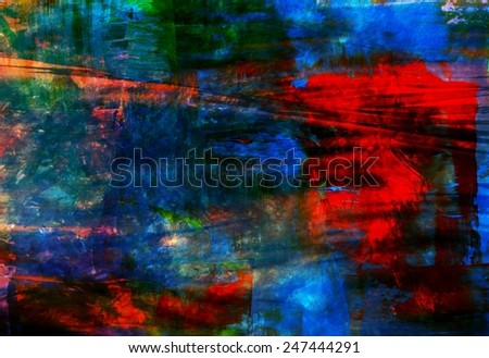 Red and blue abstract background, Creative design - stock photo