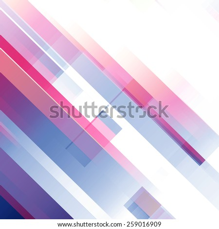 Red And Blue Abstract Contemporary Background Design - stock photo