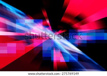 Red And Blue Abstract Dynamic Art Futuristic Background Design - stock photo