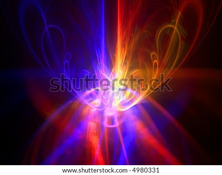 red and blue energy power abstract