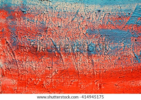 Red and blue gradient abstract brush stroke daub background oil paint, textured acrylic art abstract painted background.  - stock photo