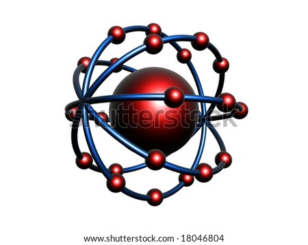 Red and Blue molecule