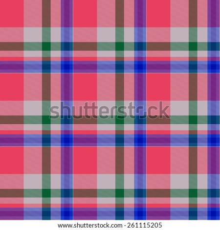 red and blue Tartan seamless background - stock photo