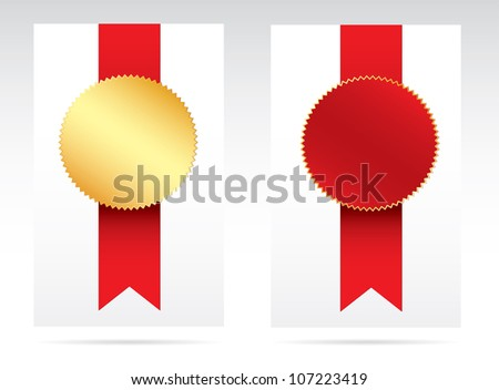 Red and gold award.