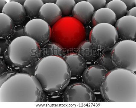 red and gray balls