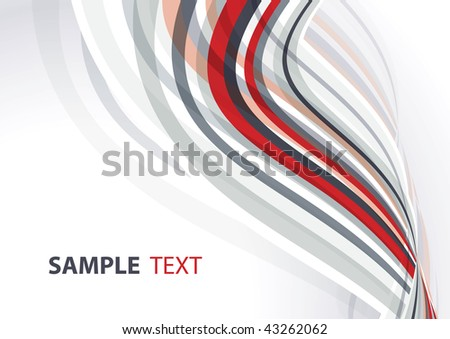 Red and gray template. Rasterized vector