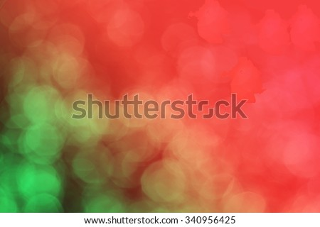 red and green bokeh light - stock photo