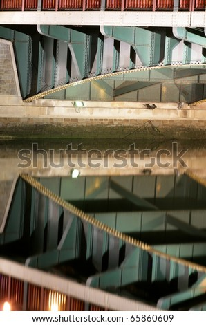 red and green bridge abstract background
