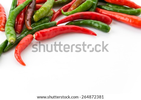 Red and Green chili pepper - stock photo