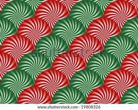 Red and Green Peppermint Background - stock photo
