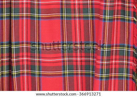 red and green tartan texture background - stock photo