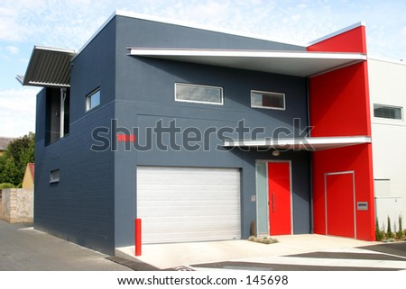 Red and Grey building...