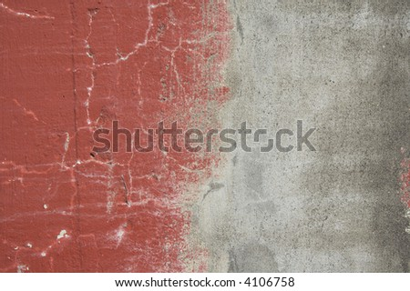 Red and grey concrete texture - stock photo