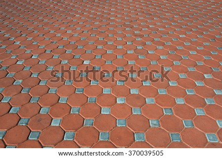 Red and light blue brick ground seamless Vector illustration background - texture pattern for continuous replicate.