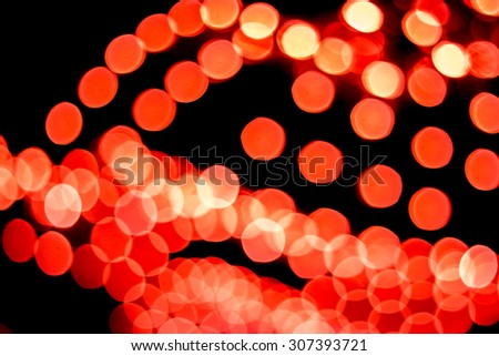 Red and orange bokeh. Abstract Christmas background