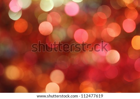 Red and orange holiday bokeh. Abstract Christmas background - stock photo