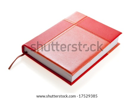 Red-and-orange personal organizer, isolated - stock photo