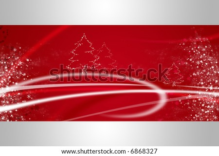 red and silver winter and christmas illustration