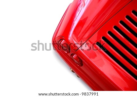 red and white - stock photo
