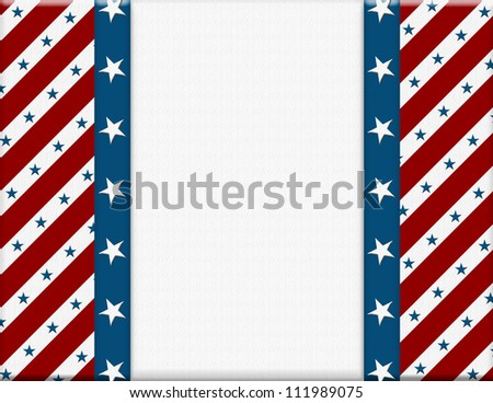 Red and White American celebration frame for your message or invitation with copy-space in the middle - stock photo