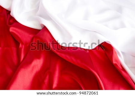 red  and white background with a red and white satin - stock photo