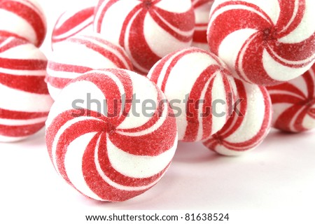 Red and white balls - stock photo