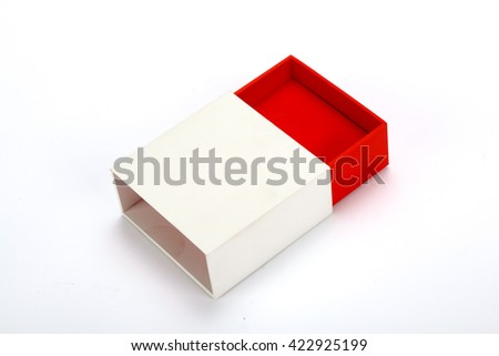 Red and white box