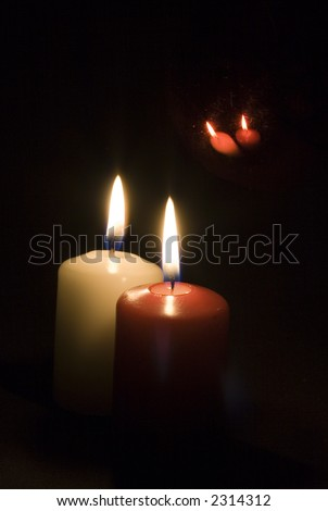Red and white candle