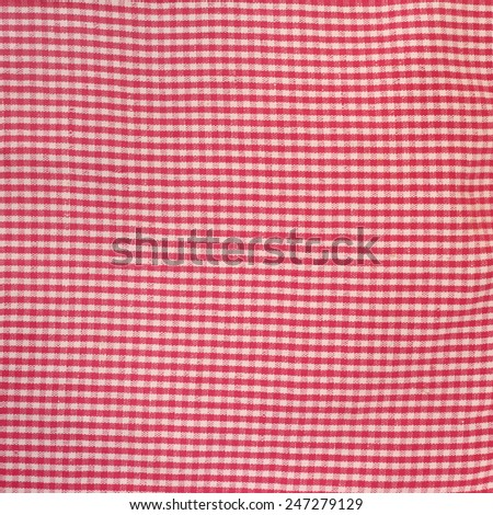 Red and white checkered dish towel texture - stock photo