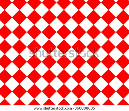 Red and white checkered hypnotic pattern - stock photo