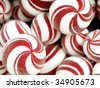 Red and white Christmas candy - stock photo