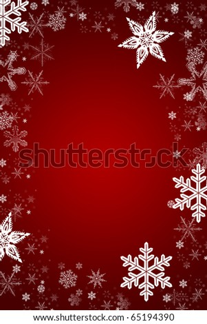 red and white christmas card with a snowflake frame xmas