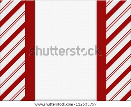 Red and White Christmas Frame for your message or invitation with copy-space in the middle - stock photo