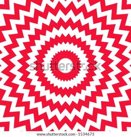 Red and white circular opp art design. - stock photo