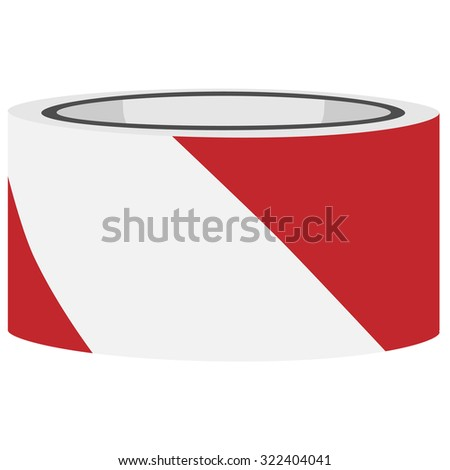 Red and white danger tape raster, caution tape, police tape - stock photo